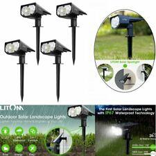 Litom Solar 12 LED Landscape Wall Lights Outdoor Garden Pathway Spotlight  Lamp