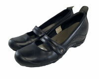 Merrell Plaza Bandeau Black Leather Mary Janes Loafers Shoes Women's Size Us 9.5