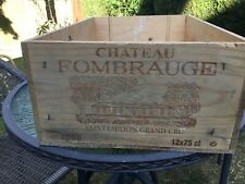 VINTAGE FRENCH WOODEN WINE CRATE BOX STORAGE CHATEAU FOMBRAUGE 2000