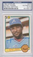 Rufino Linares Atlanta Braves 1983 Donruss Signed AUTOGRAPH PSA DNA 83169315