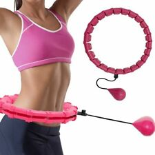 24 Knots Weighted Hula Hoop Adjustable Smart Fitness Gym Equipment Weight Loss