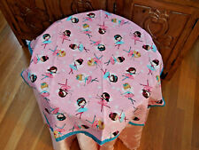 PRETTY Tablecloth w/4napkins Handmade w/FAERIES BALLERINAS x Girl Tea Party, NEW