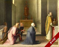 THE COMMUNION OF ST CATHERINE PAINTING CATHOLIC CHURCH ART REAL CANVAS PRINT