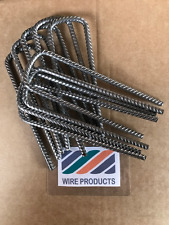 U Pins Metal Steel Pegs Turf Reinforcement Grass Protection Mesh Mat Fixings