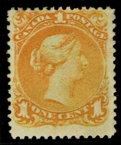 1868 Canada SG56a 1c Orange-Yellow Almost Full OG Ex Lionheart FMM Cat.£1,100.00