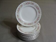 9 Dansico Fine China Bread Plates In The Teahouse Rose Pattern, Japan