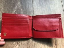 AUTHENTIC Rolex Red LEATHER Wallet Novelty