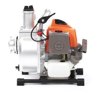 "Petrol Water Pump 63cc 2"" 1.5"" Portable Flood Drainage Footing Garden"