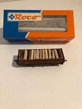 Gauge H0 Roco 46010 Open Goods Wagon Loaded with Wood Boxed