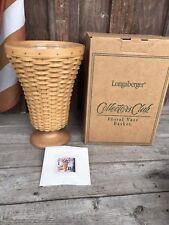 Longaberger Floral Vase Basket Mint In Box
