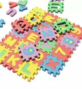 Doll House Accessories - Mini Letter Carpet 1 Set = 12 Piece's
