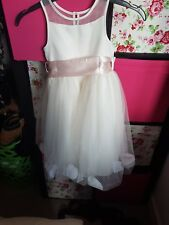 bridesmaid flower girl dress age 2-3 ivory cream