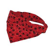 Kühltuch für Hunde rot u.schwarze Pfoten, kühlendes Halsband My dog is cool Tuch