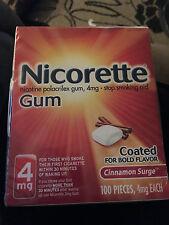 Nicorette Gum 4MG Cinnamon Surge Flavor 100 Pieces New Help Stop Smoking