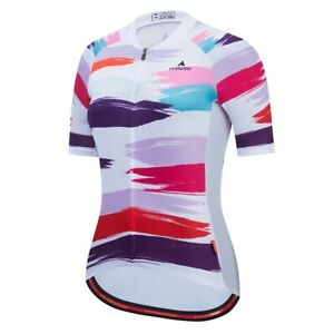 Women's Cycling Jersey Clothing Bicycle Sportswear Short Sleeve Bike Shirt J101