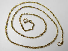 9ct Gold Chain / Yellow Gold / Prince of Wales / 18 Inches
