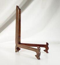 Vintage Carved Wood Folding Display Plate Stand     - 58202