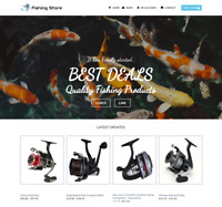 Fishing store Website For Sale - Earn £425.00 A SALE. Free Domain| Web Hosting