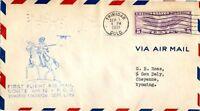 1929 FIRST FLIGHT AIR MAIL TRINADAD, CO TO CHEYENNE, WY SEPT 1, 1931