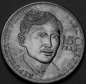 Philippines Piso, 2011 Gem Unc~150th Anniversary Birth of Jose Rizal~Free Ship