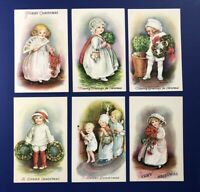 6 Christmas E. Clapsaddle Antique Postcards Wolf Series 25. For Collectors. NICE