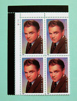 Sc # 3329 ~ Plate # Block ~ 33 cent Legends of Hollywood Issue, James Cagney