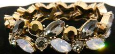 J Crew Bracelet Crystal Stretch Bracelet Gold Tone B371
