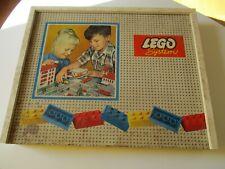 LEGO System Vintage Holzkasten MIT INHALT !!! Holz Kasten 50er 60er Jahre