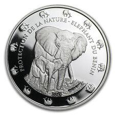 2015 Benin 1 oz Silver Protection de la Nature Elephant