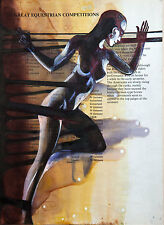 Nude / Woman / Sport / Changes / Original Ink on Old Book Page by Hahonina