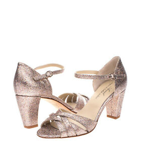 RRP €210 ANNIEL D'Orsay Sandals Size 36 UK 3 US 6 Glitter Strappy Made in Italy