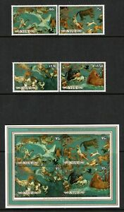 Niue 1986 Halley Comet Set & Miniature Sheet SG610-613 & SGMS614 MNH