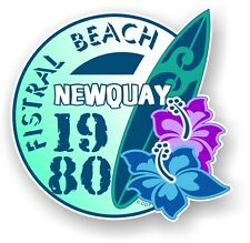 Retro Surf board Surfing Fistral Beach NEWQUAY 1980 Car Camper van sticker decal