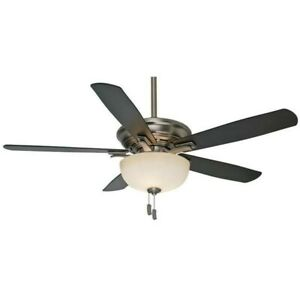 """Casablanca 54081 54"""" Academy Ceiling Fan in Antique Pewter with light kit."""