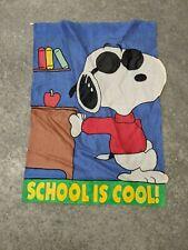 "Peanuts Snoopy Joe Cool ""School Is Cool"" Large Decorative Flag 28"" x 40"""