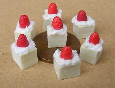 1:12 Loose 7 Strawberry Lemon Slices Dolls House Miniature Cake Accessories PL38
