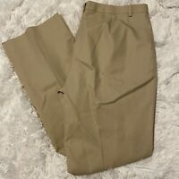 "Brooks Brothers Womens Size 12 Beige Advantage Chino Pants 32"" Inseam EUC"