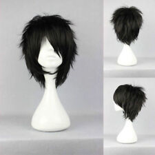 New BeautifulShort layered loveless Black Anime Cosplay Wig V587
