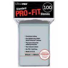 Ultra PRO MTG Pro-Fit Transparent Standard Card Sleeves Deck Protector - 100 Pcs - ULP82712