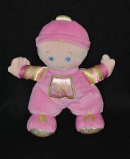 Peluche doudou poupée bébé 2008 FISHER PRICE rose soleil grelot 27 cm TTBE