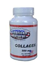 COLLAGEN 500mg  100 capsules American Natural colageno en pastillas, colageina10