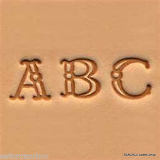 "Leather Craft Tooling Tool Alphabet Stamp Set 3/8"" (1 cm) Fancy"