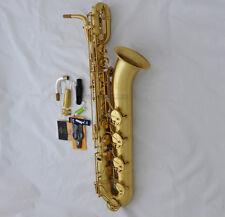 Professional TaiShan Yellow Antique Eb Baritone Saxophone sax Germany Mouth+Case