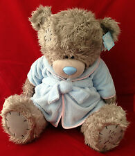 "ME TO YOU BEAR TATTY TEDDY X LARGE 24"" BLUE DRESSING GOWN BEDTIME BEAR PLUSH"