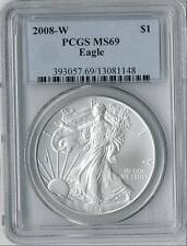 2008 W American Silver Eagle Dollar PCGS MS 69 burnishe