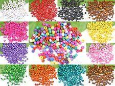 Wholesale 500/1000pcs Bead Wood Tube Spacer Beads 4X3MM 12Colors U PICK