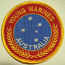 Young Marines Australia Cloth Patch - 76 mm x 76 mm - As New - Never Used
