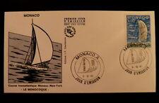MONACO PREMIER JOUR FDC YVERT  1489      MONOCOQUE        4F        1985
