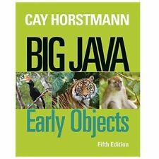 Big Java: Early Objects Programming by Cay S. Horstmann (2013, Paperback) 5th Ed