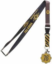 *New* Fallout: 76 Vault-Tec Breakaway Brown Lanyard with Charm by Bioworld